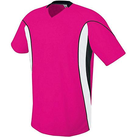 Helix Jersey Raspberry/white/black Adult Single Soccer & Shorts