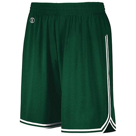 Retro Basketball Shorts Forest/white Adult Single Jersey &
