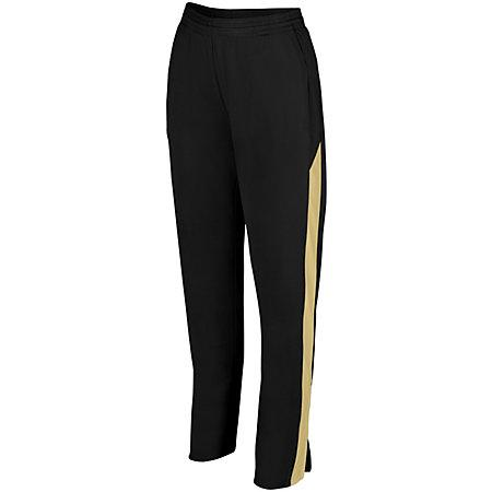 Ladies Medalist Pant 2.0 Black/vegas Gold Softball