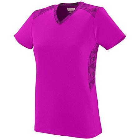 Girls Vigorous Jersey Power Pink/power Pink/black Print Softball