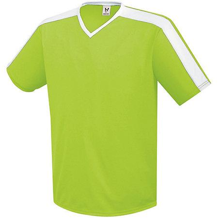 Youth Genesis Soccer Jersey Lime / white Single y pantalones cortos