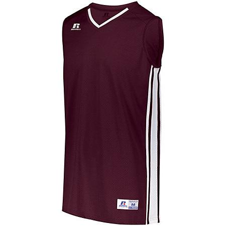 Youth Legacy Basketball Jersey Maroon/white Single & Shorts
