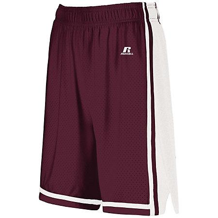 Ladies Legacy Basketball Shorts Maroon/white Single Jersey &