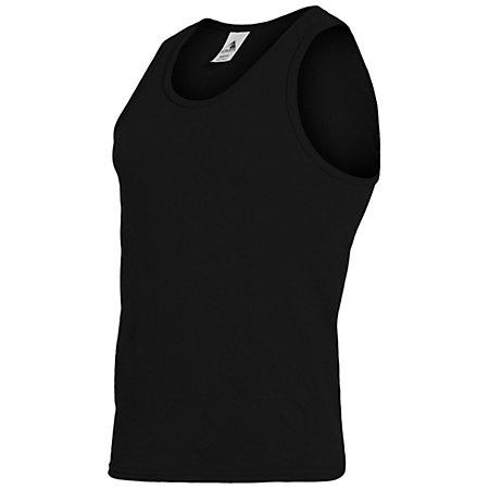 Poly/cotton Athletic Tank Black Adult Basketball Single Jersey & Shorts