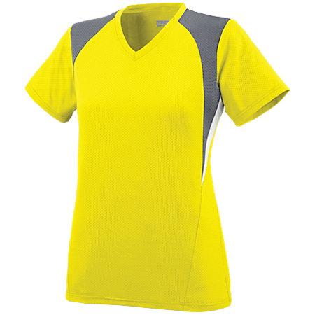 Ladies Mystic Jersey Power Yellow/graphite/white Softball