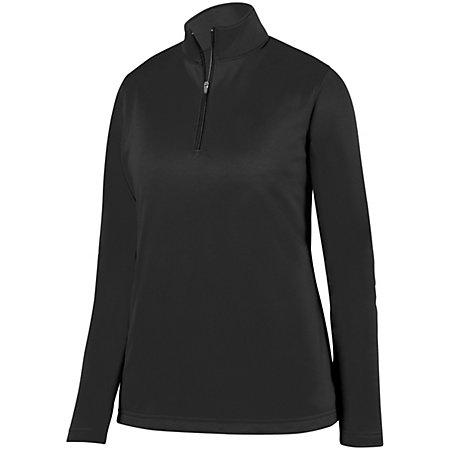 Ladies Wicking Fleece Pullover Black Basketball Single Jersey & Shorts