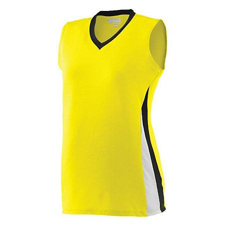 Ladies Tornado Jersey Power Yellow/black/white Softball