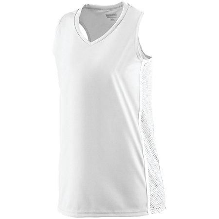 Ladies Winning Streak Racerback Jersey White/white Basketball Single & Shorts