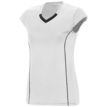 Girls Lash Jersey White/black Youth Volleyball