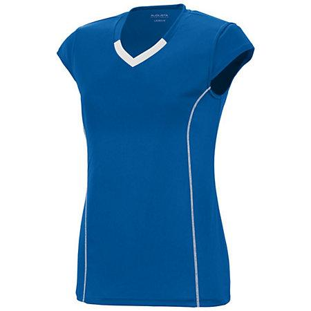 Girls Lash Jersey Royal/white Youth Volleyball
