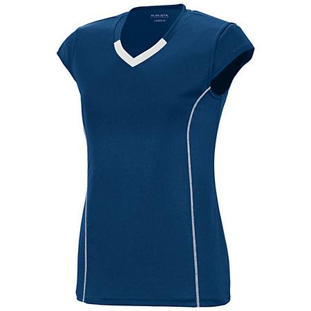 Girls Lash Jersey Navy/white Youth Volleyball