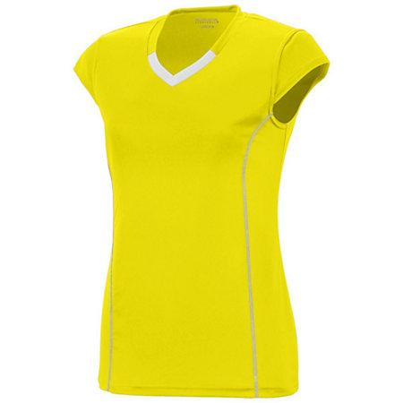 Girls Lash Jersey Power Yellow/white Youth Volleyball