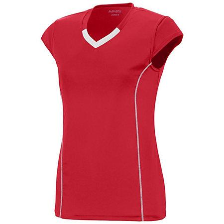 Girls Lash Jersey Red/white Youth Volleyball