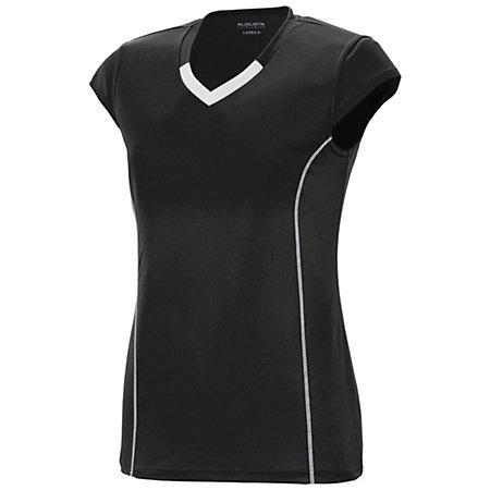 Girls Lash Jersey Black/white Youth Volleyball