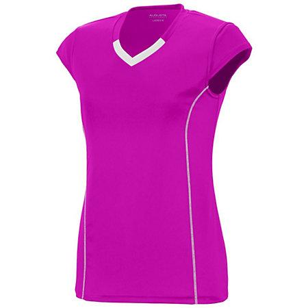 Girls Lash Jersey Power Pink/white Youth Volleyball