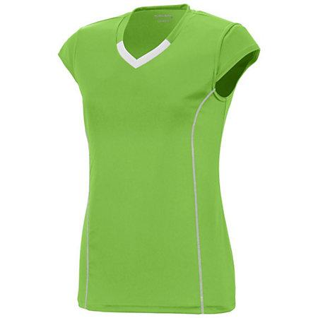Girls Lash Jersey Lime/white Youth Volleyball