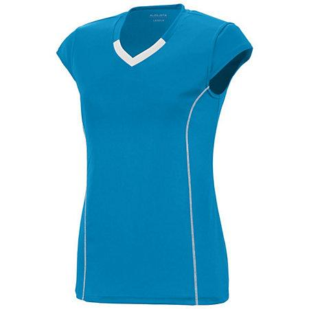 Girls Lash Jersey Power Blue/white Youth Volleyball