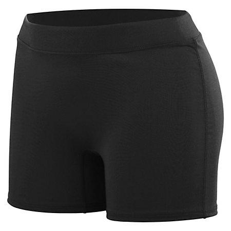 Girls Enthuse Shorts Black Youth Volleyball