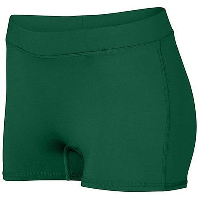 Ladies Dare Shorts Dark Green Adult Volleyball