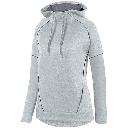 Ladies Zoe Tonal Heather Hoodie Silver/graphite Basketball Single Jersey & Shorts