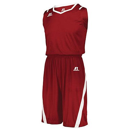 Athletic Cut Shorts True Red/white Adult Basketball Single Jersey &