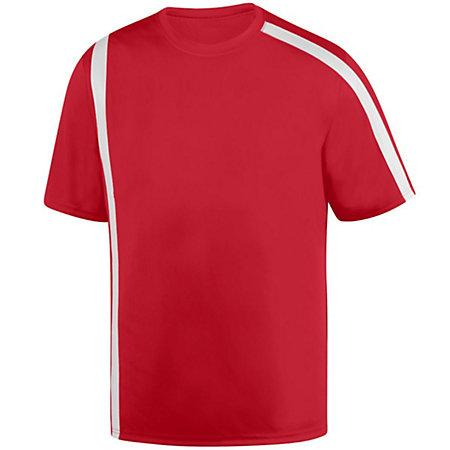 Youth Attacking Third Jersey Red/white Single Soccer & Shorts