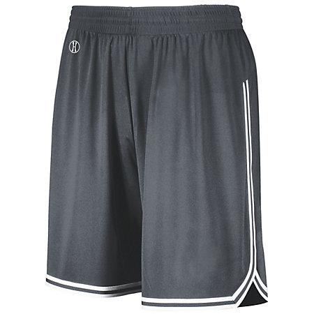 Retro Basketball Shorts Graphite/white Adult Single Jersey &