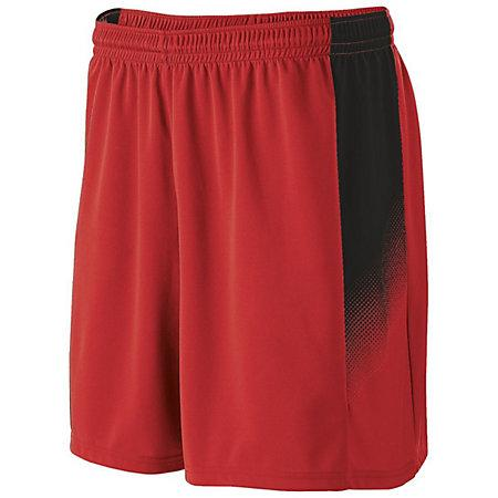 Youth Ionic Shorts Scarlet/black Single Soccer Jersey &