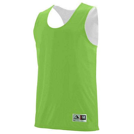 Youth Reversible Wicking Tank Lime/white Basketball Single Jersey & Shorts