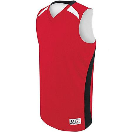 Campus Reversible Jersey Scarlet/black/white Adult Basketball Single & Shorts