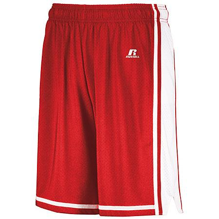Legacy Basketball Shorts True Red/white Adult Single Jersey &