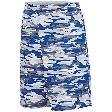 Reversible Wicking Short Royal Mod/white Adult Basketball Single Jersey & Shorts