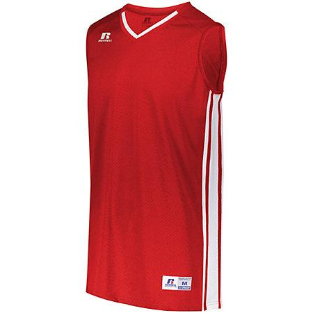 Youth Legacy Basketball Jersey True Red/white Single & Shorts