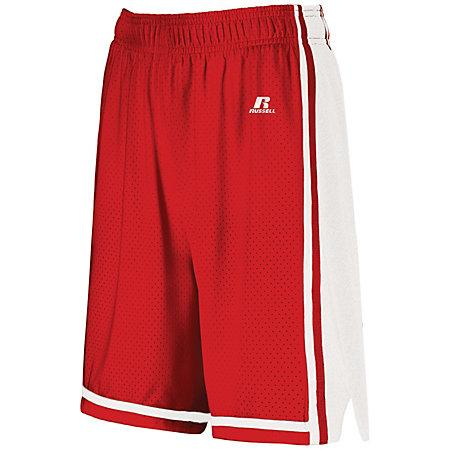 Ladies Legacy Basketball Shorts True Red/white Single Jersey &