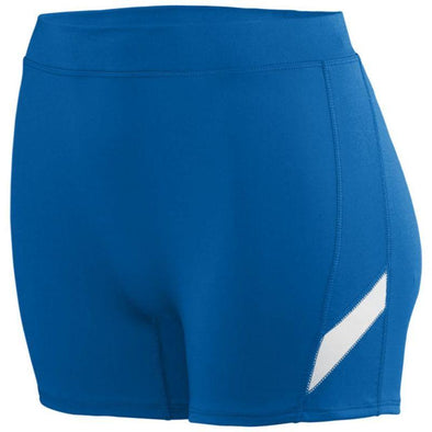 Ladies Stride Shorts Royal/white Adult Volleyball