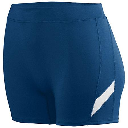 Ladies Stride Shorts Navy/white Adult Volleyball