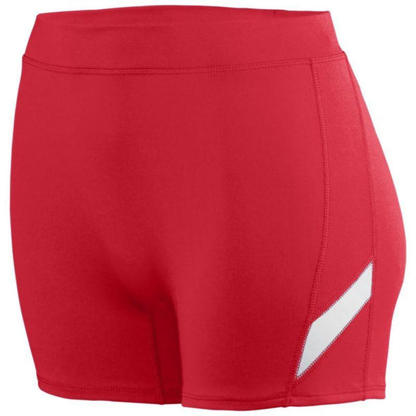 Ladies Stride Shorts Red/white Adult Volleyball