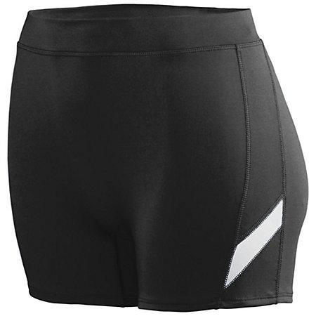 Ladies Stride Shorts Black/white Adult Volleyball