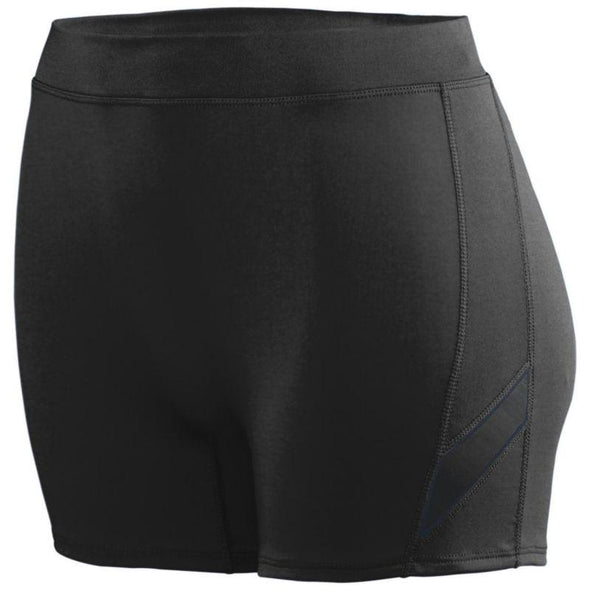 Ladies Stride Shorts Black/black Adult Volleyball