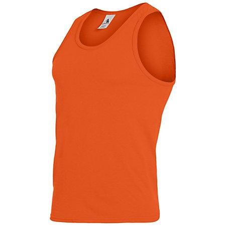 Poly/cotton Athletic Tank Orange Adult Basketball Single Jersey & Shorts