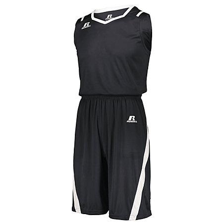 Athletic Cut Jersey Stealth / blanco Adult Baloncesto Single & Shorts