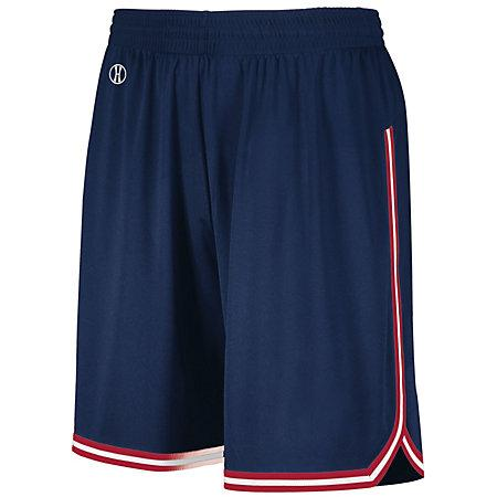 Retro Basketball Shorts Navy/scarlet/white Adult Single Jersey &
