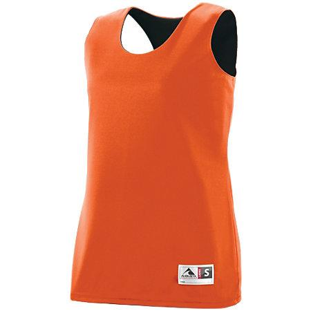 Ladies Reversible Wicking Tank Orange/black Basketball Single Jersey & Shorts