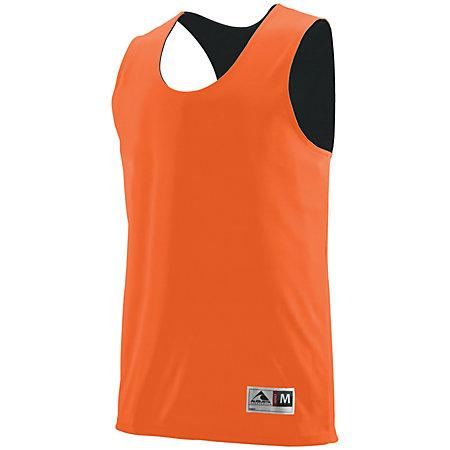 Youth Reversible Wicking Tank Orange/black Basketball Single Jersey & Shorts