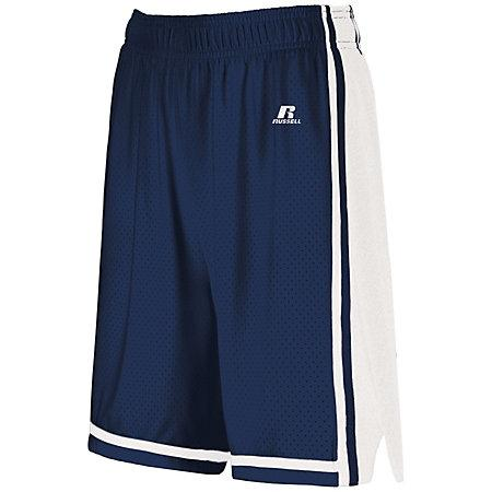 Ladies Legacy Basketball Shorts Navy/white Single Jersey &