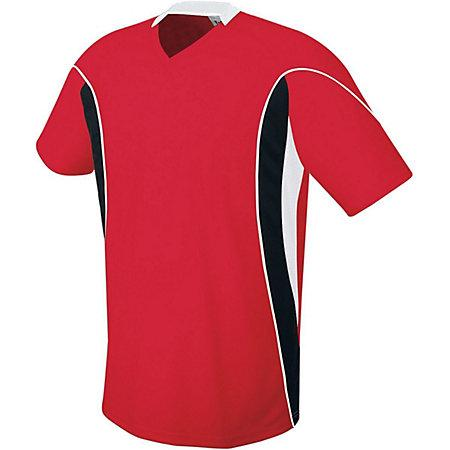 Helix Jersey Scarlet/black/white Adult Single Soccer & Shorts