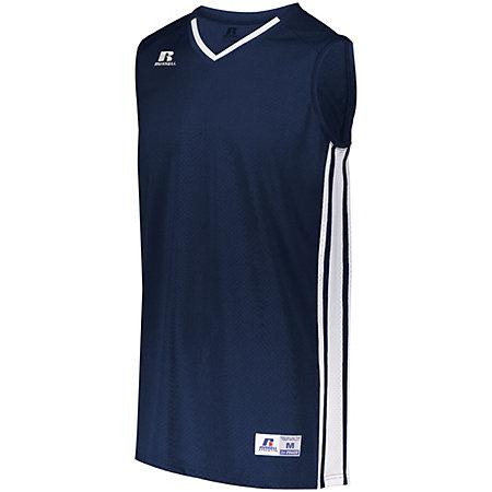Youth Legacy Basketball Jersey Navy/white Single & Shorts
