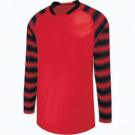 Youth Prism Goalkeeper Jersey Scarlet/black Single Soccer & Shorts