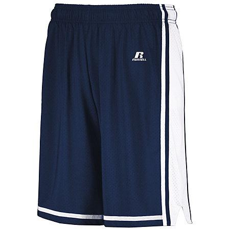 Legacy Basketball Shorts Navy/white Adult Single Jersey &