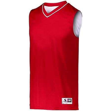 Reversible Two Color Jersey Red/white Adult Basketball Single & Shorts
